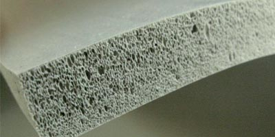 Placa de silicone esponjoso
