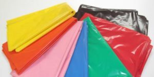 Plastic colored bags