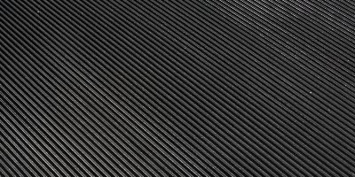 Ribbed rubber flooring